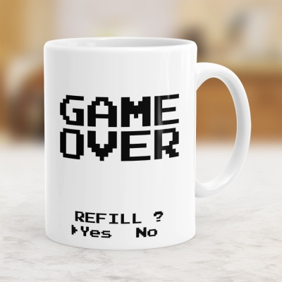 GANE OVER - REFILL? - Kubek