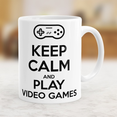 Keep Calm & Play Video Games - Kubek